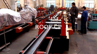 Galvanized Steel C / Z Purlin Roll Forming Machine , C Purlin Production Line
