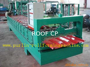 High Speed Glazed Tile Cold Roll Forming Machine 0 - 20 m/min Red Roofing Panel or Customized