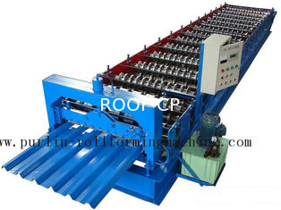 PLC Steel Metal Roof Panel Roll Forming Machine , Roofing Sheet Roll Former 5 Ton